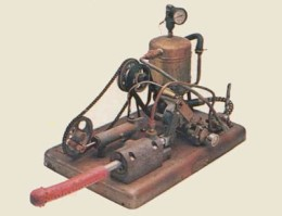 The first ever steam powered vibrator. Used to treat hysteria.